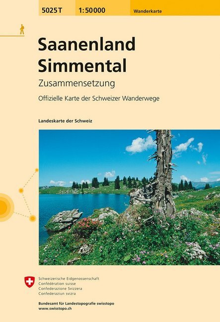 Swisstopo 1 : 50 000 Saanenland - Simmental als Buch