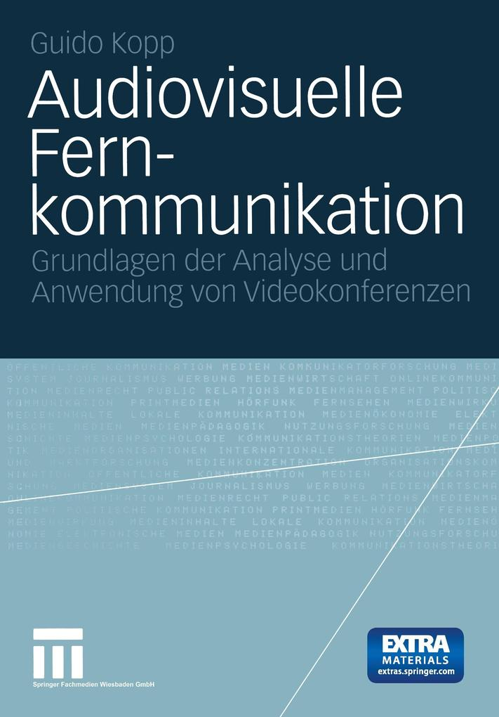 Audiovisuelle Fernkommunikation als Buch
