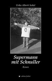 Supermann mit Schnuller als Buch