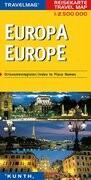 Kunth Reisekarte Europa 1 : 2 500 000