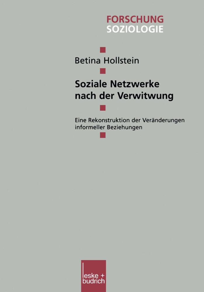 Soziale Netzwerke nach der Verwitwung als Buch