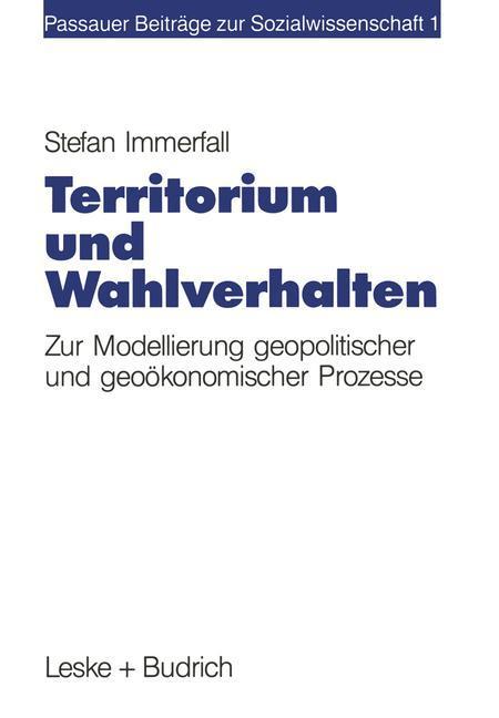 Territorium und Wahlverhalten als Buch