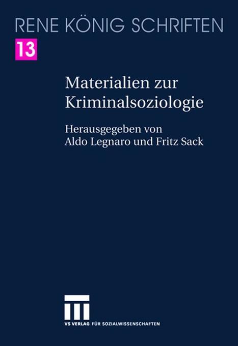 Materialien zur Kriminalsoziologie als Buch