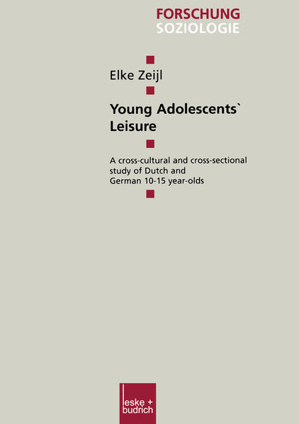 Young Adolescents' Leisure als Buch
