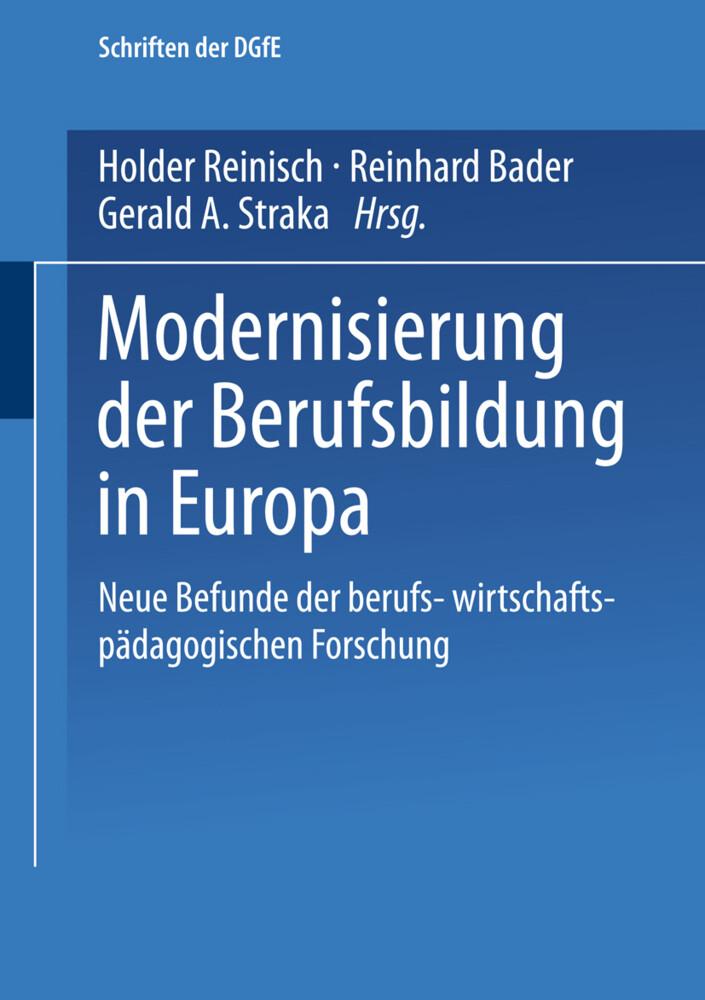 Modernisierung der Berufsbildung in Europa als Buch