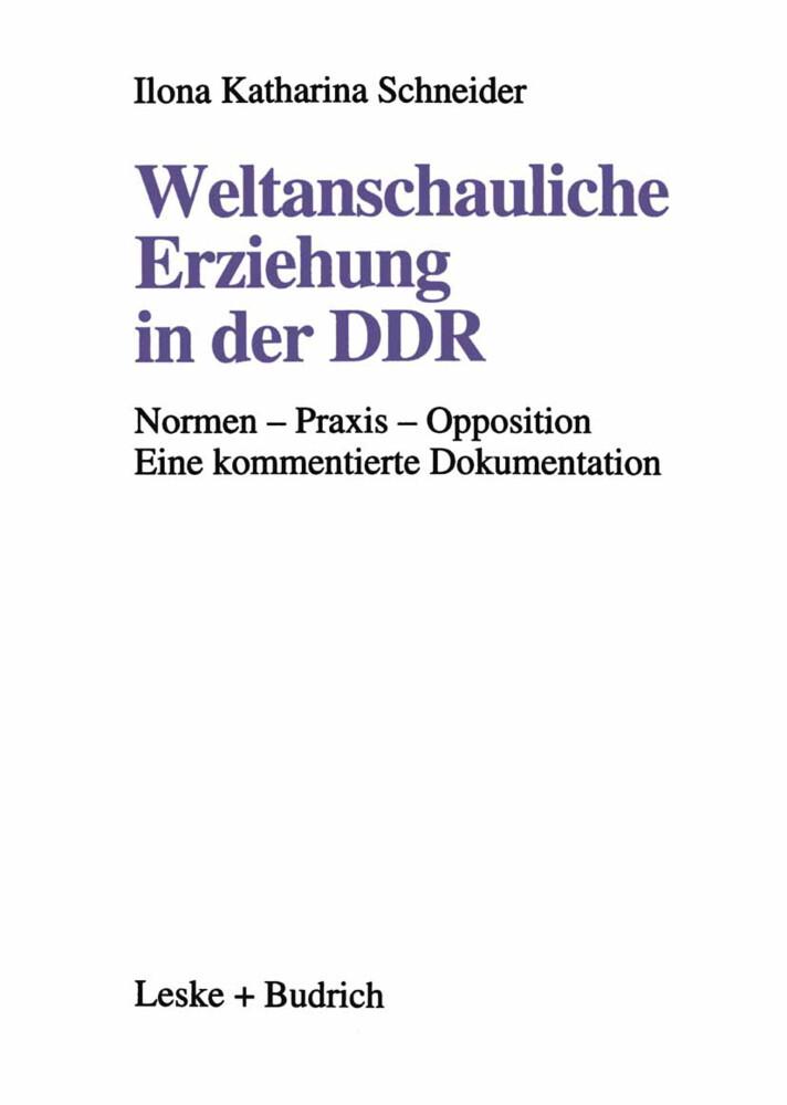 Weltanschauliche Erziehung in der DDR als Buch