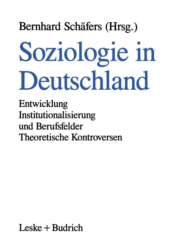 Soziologie in Deutschland als Buch