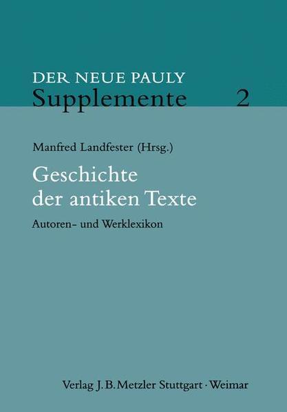 Der Neue Pauly. Supplemente 2 als Buch