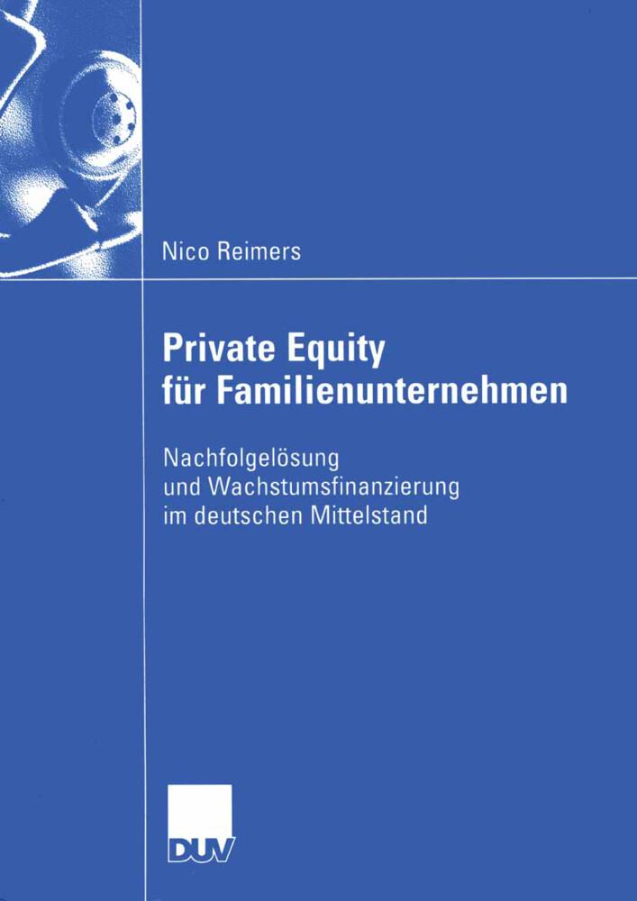 Private Equity für Familienunternehmen als Buch