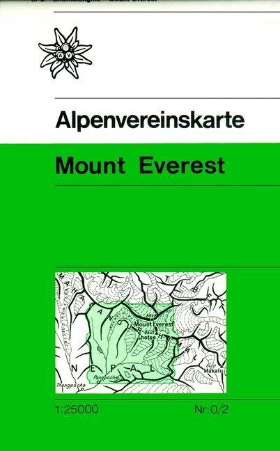 DAV Alpenvereinskarte 0/2 Mount Everest 1 : 25 000 als Buch