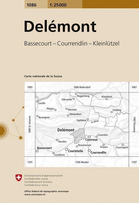 Swisstopo 1 : 25 000 Delémont als Buch