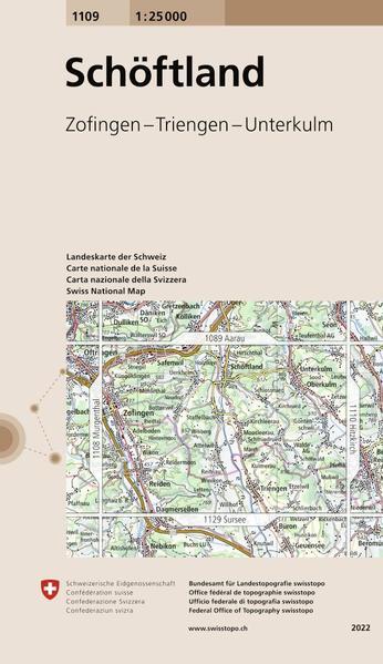 Swisstopo 1 : 25 000 Schöftland als Buch