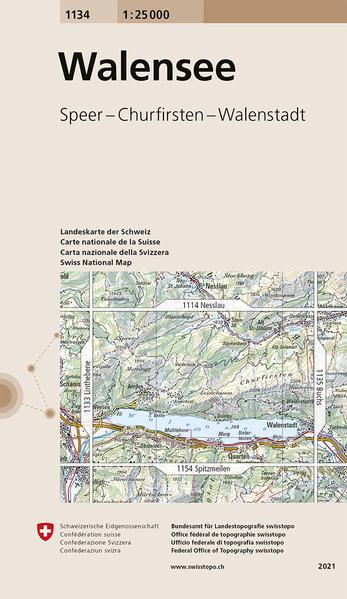 Swisstopo 1 : 25 000 Walensee als Buch