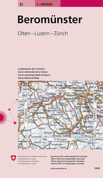 Swisstopo 1 : 100 000 Beromünster als Buch