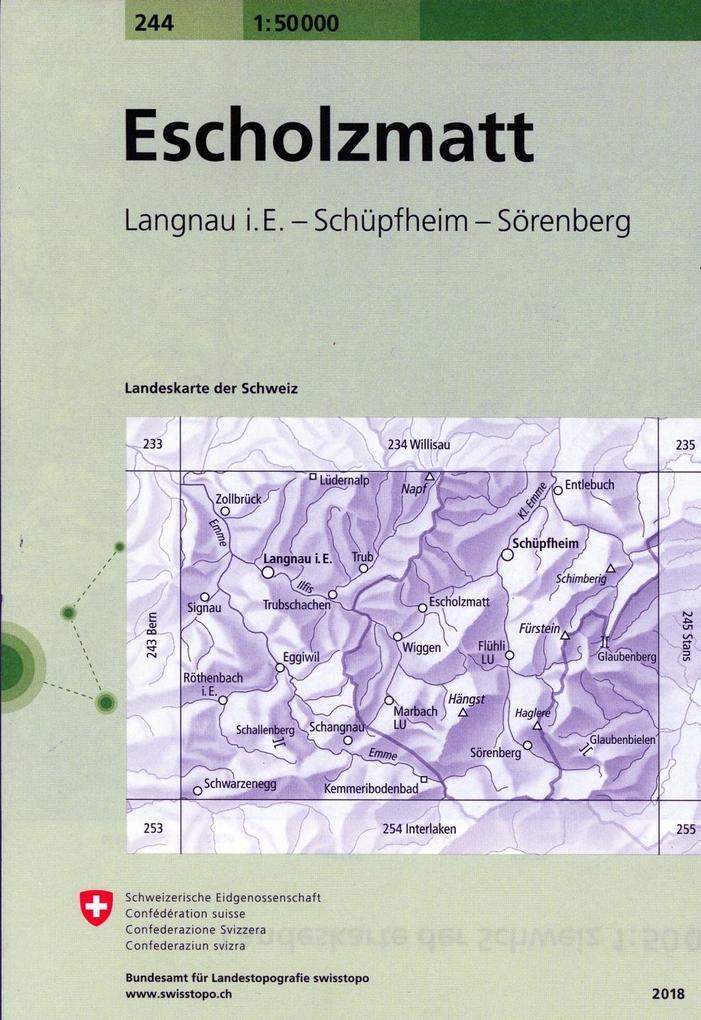 Swisstopo 1 : 50 000 Escholzmatt als Buch