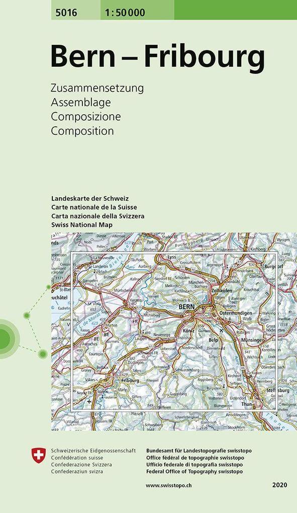 Swisstopo 1 : 50 000 Bern Fribourg als Buch