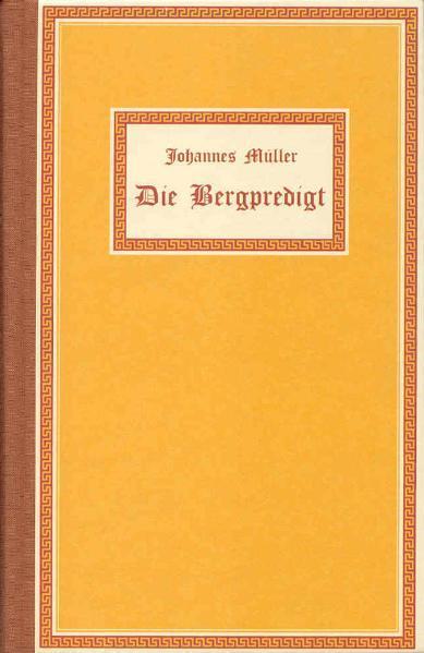 Die Bergpredigt als Buch