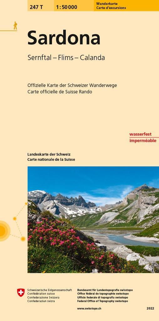 Swisstopo 1 : 50 000 Sardona als Buch