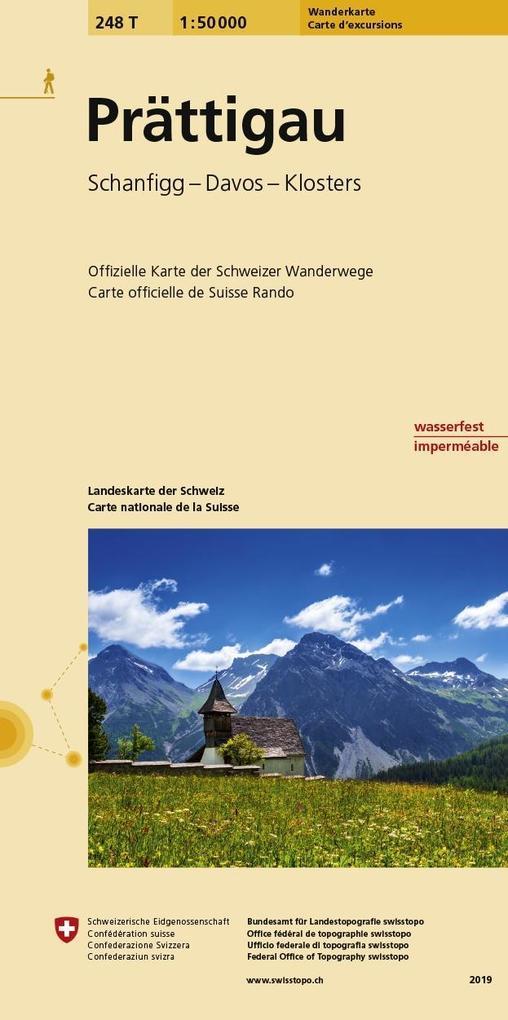 Swisstopo 1 : 50 000 Prättigau als Buch