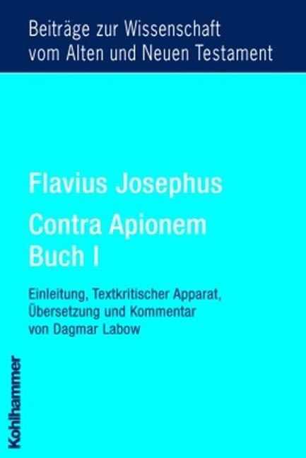 Flavius Josephus Contra Apionem, Buch I als Buch