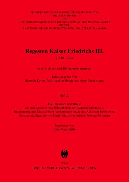 Die Urkunden und Briefe aus den Archiven und Bi...