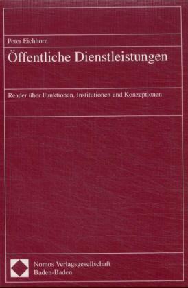 Öffentliche Dienstleistungen als Buch