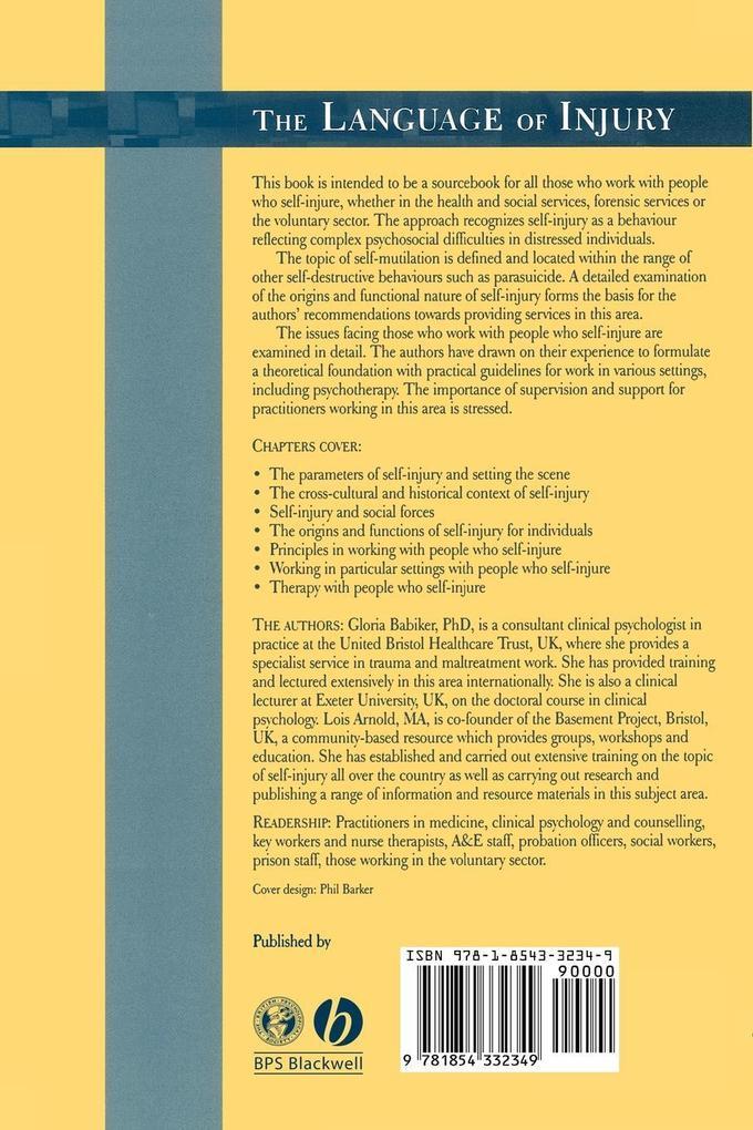 Language of Injury als Buch