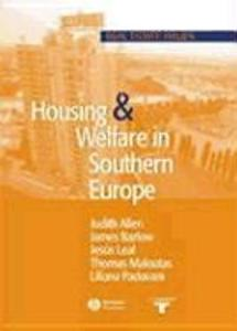 Housing and Welfare in Southern Europe als Buch