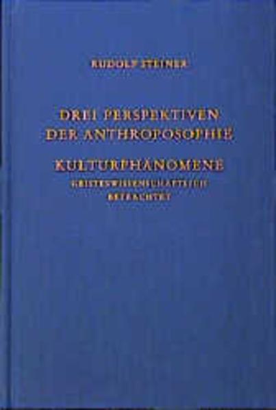 Drei Perspektiven der Anthroposophie als Buch