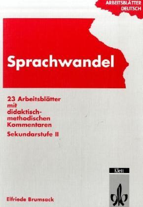 Arbeitsblätter Deutsch. Sprachwandel. RSR als Buch