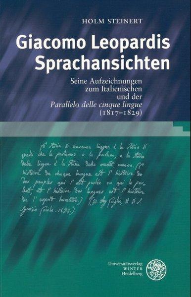 Giacomo Leopardis Sprachansichten als Buch (kartoniert)
