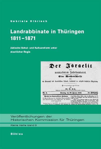 Landrabbinate in Thüringen 1811-1871 als Buch