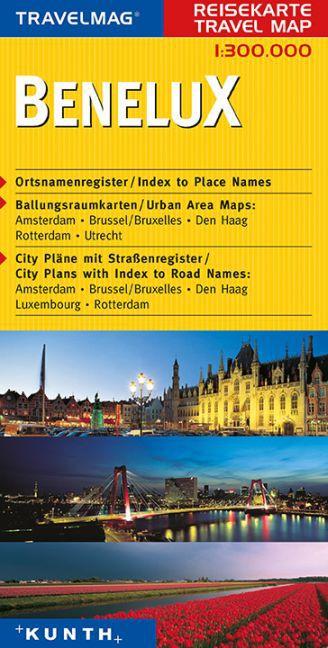 KUNTH Reisekarte Benelux 1 : 300 000 als Buch