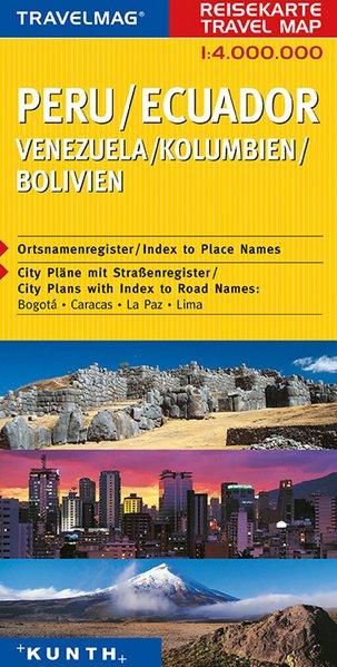 KUNTH Reisekarte Peru, Ecuador 1 : 4 000 000 als Buch