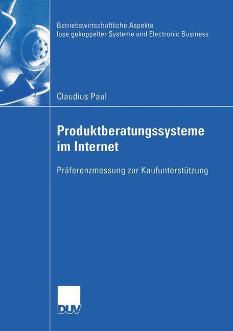 Produktberatungssysteme im Internet als Buch