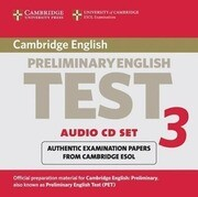 Cambridge Preliminary English Test 3 Audio CD Set (2 CDs): Examination Papers from the University of Cambridge ESOL Examinations
