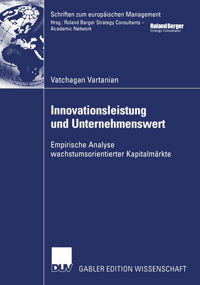 Innovationsleistung und Unternehmenswert als Buch