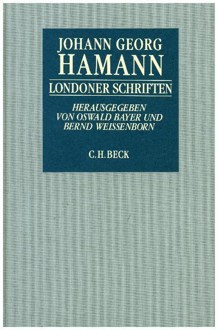 Londoner Schriften als Buch