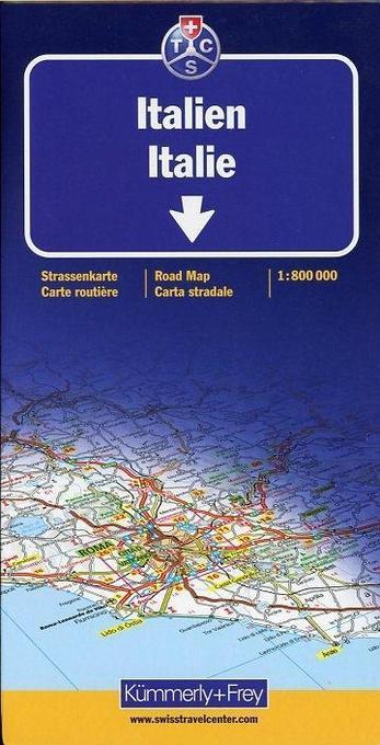 KuF Italien 1 : 800 000. Straßenkarte als Buch