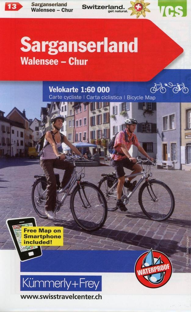 KuF Schweiz Radkarte 13 Sarganserland - Walensee - Chur 1 : 60 000 als Buch
