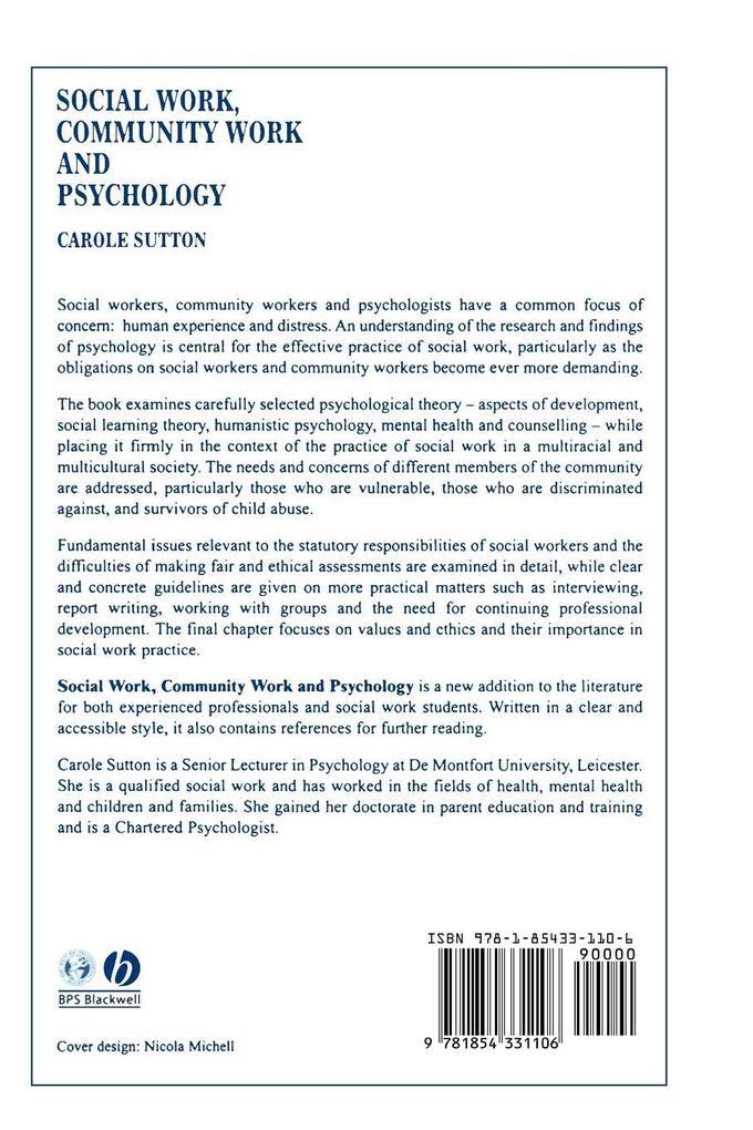 Social Work, Community Work als Buch