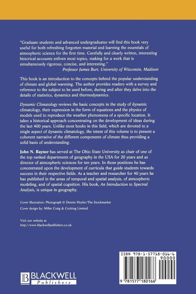 Dynamic Climatology als Buch