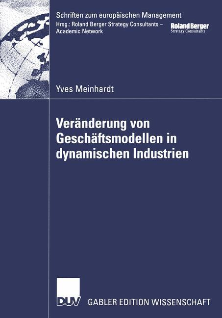 Veränderung von Geschäftsmodellen in dynamischen Industrien als Buch