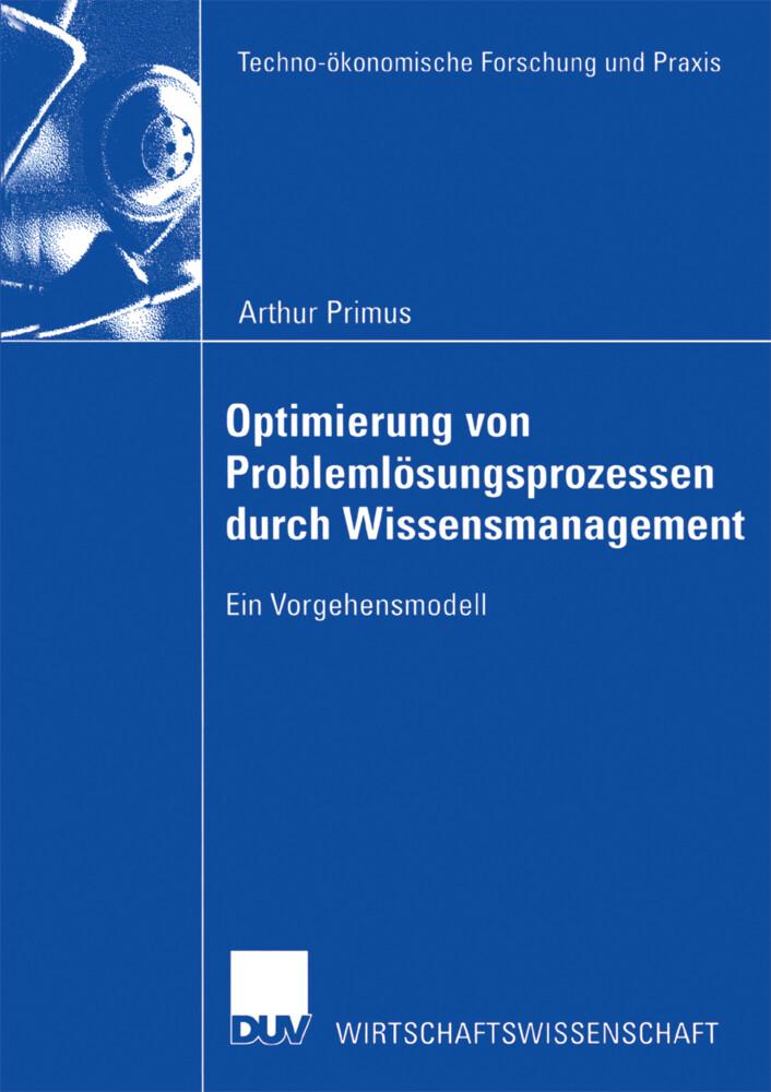 Optimierung von Problemlösungsprozessen durch Wissensmanagement als Buch