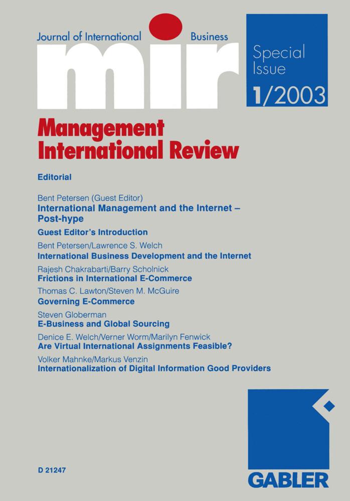 mir: Management International Review als Buch