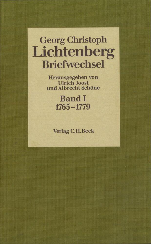Lichtenberg Briefwechsel Bd. 1: 1765-1779 als Buch