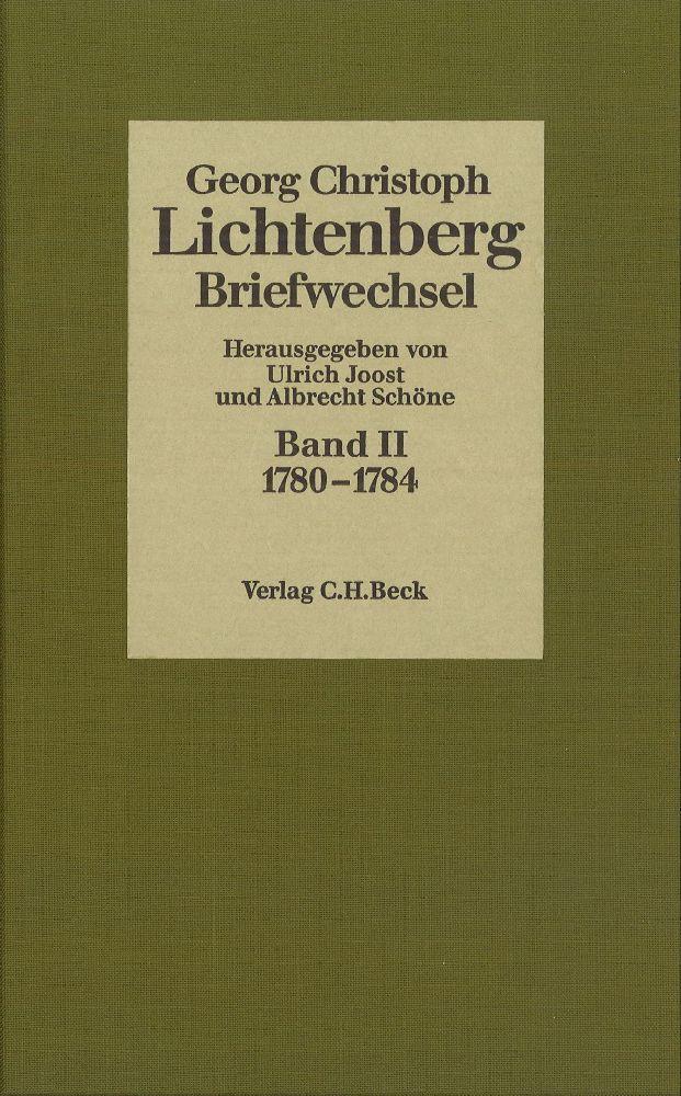 Lichtenberg Briefwechsel Bd. 2: 1780-1784 als Buch