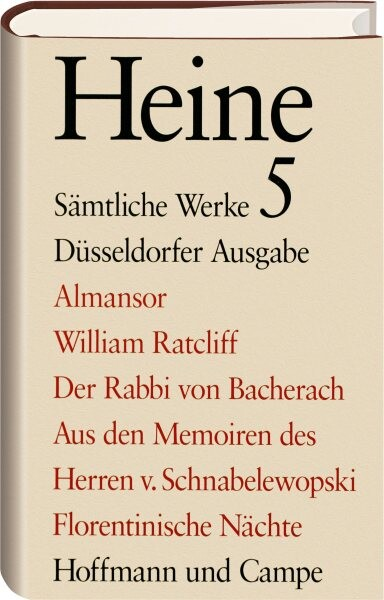 Almansor. William Ratcliff. Der Rabbi von Bacherach als Buch