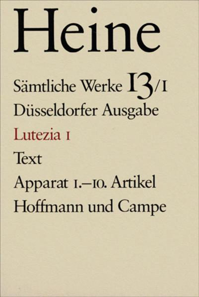 Lutezia I als Buch
