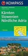 Kärnten, Slowenien, Nördliche Adria 1 : 650 000. Straßenkarte